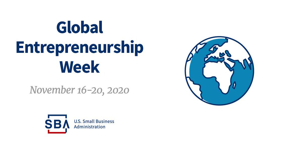🌎👩‍💼👨‍💼 #GlobalEntrepreneurshipWeek: Explore SBA resources and programs that can help entrepreneurs start, grow, expand, or recover their business.   ➡️ https://t.co/yR58RgV7jG  #GEW2020 https://t.co/bDjQlK60ds