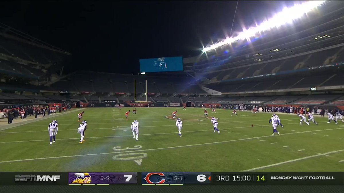 .@ceeflashpee84 SAID ✌️!! 104 yards to DA HOUSE.  📺 ESPN 📱: https://t.co/yfm0Jlb8p7 #MINvsCHI | #DaBears https://t.co/1GlnjWa6gh