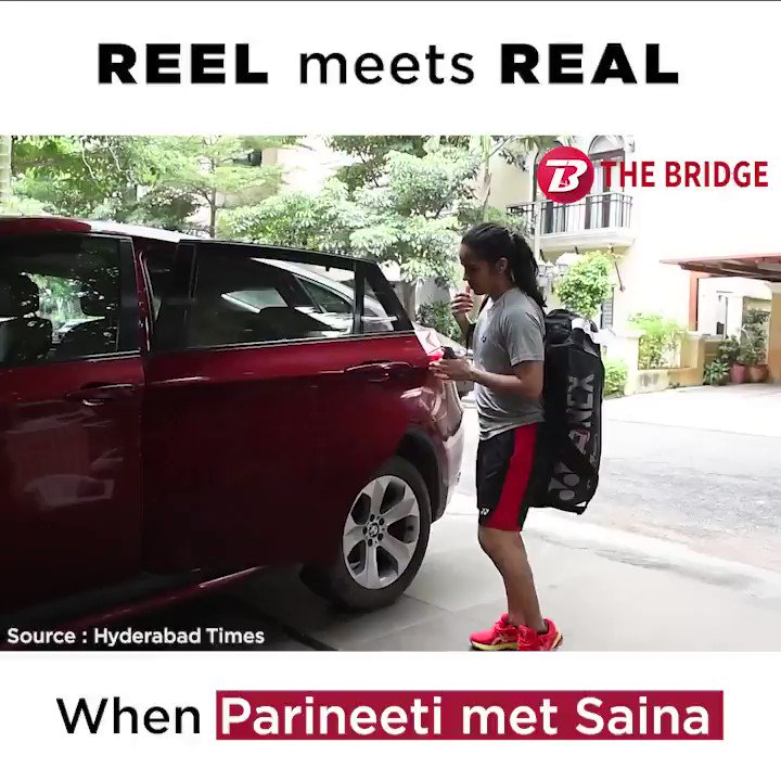 Saina Nehwal is impressed by @ParineetiChopra's preparations for her biopic.  📽 Watch to find out what tips @NSaina gave to the actor: 👇  #badminton