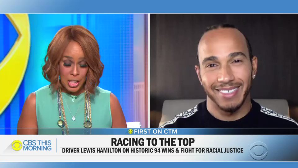British @F1 driver @LewisHamilton clinched a historic win on Sunday. With 94 career wins, he has the most of any driver in the history of the racing series.  First on @CBSThisMorning, the 7x World Champion driver joins us to discuss his victory and the fight for racial justice.
