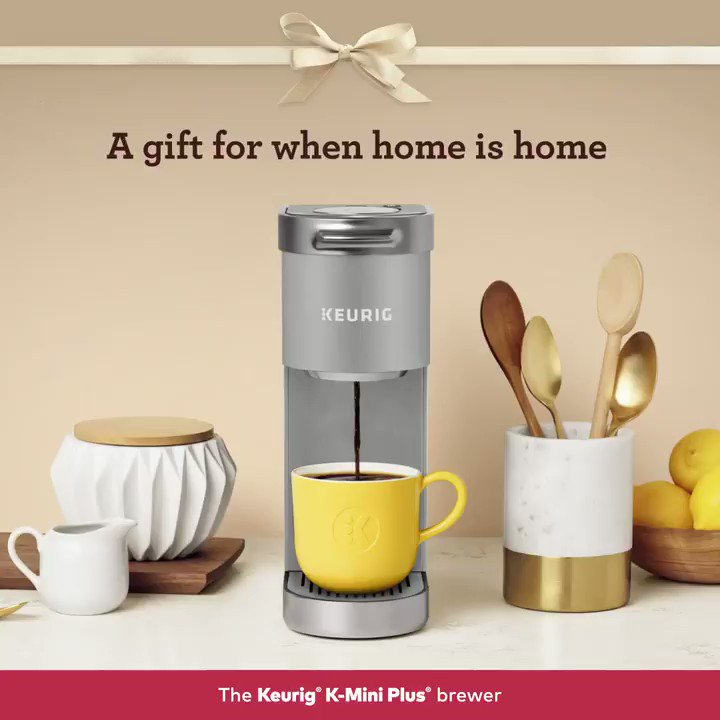 Give the gift of delicious drinks and space-saving design. The Keurig K-Mini Plus coffee maker brews great tasting beverages like a dark roast coffee, hot cocoa or apple cider. Shop Now!