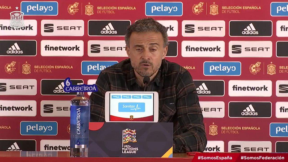"""🗣️ @LUISENRIQUE21: """"La afición jamás me ha transmitido preocupación ni nada"""".  ➡️ """"Lástima que en un partido como este y en una ciudad como Sevilla, donde La Roja se siente en casa, la gente no haya podido disfrutar desde la grada"""".  #SomosEspaña  #SomosFederación"""