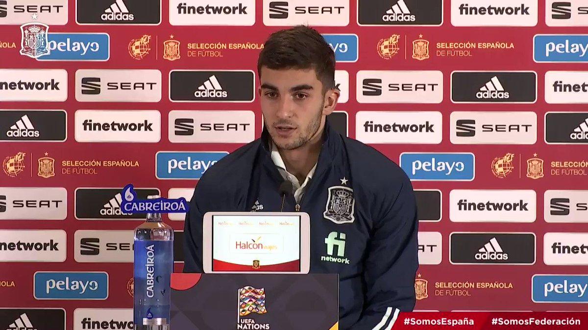 """🗣️ @FerranTorres20: """"Ni cuando ganamos somos tan buenos ni cuando perdemos somos tan malos"""".  ➡️ """"Estamos en una etapa en la que tenemos que conocernos y aún queda tiempo para la EURO"""".  #SomosEspaña  #SomosFederación"""