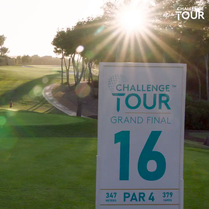 It's not the longest hole, but you need to be accurate 📌  @KitOnTheCourse went to take a look at the par four 16th hole at T Golf.   #RoadtoMallorca #GrandFinal