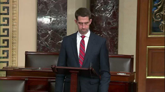 """Sen. Tom Cotton: """"Regrettably, we haven't heard much about this anniversary of the Mayflower. I suppose the pilgrims have fallen out of favor in fashionable circles these days."""""""