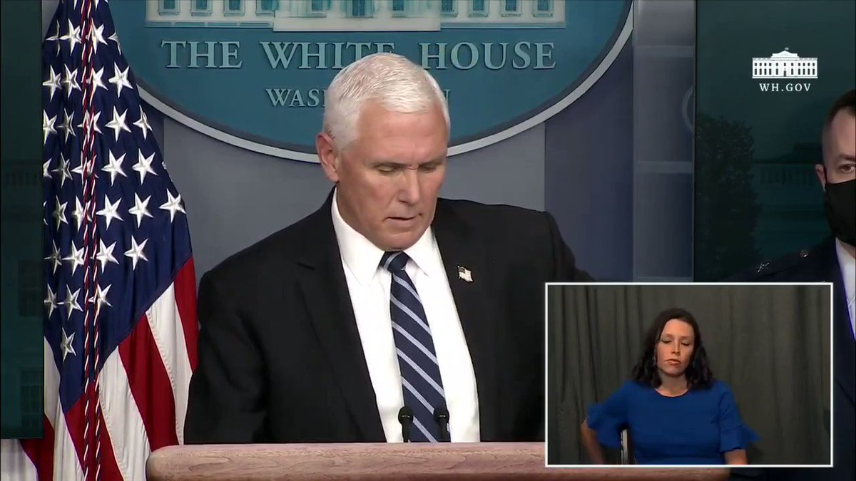Vice President @Mike_Pence: We continue to work every day to put the coronavirus in the past