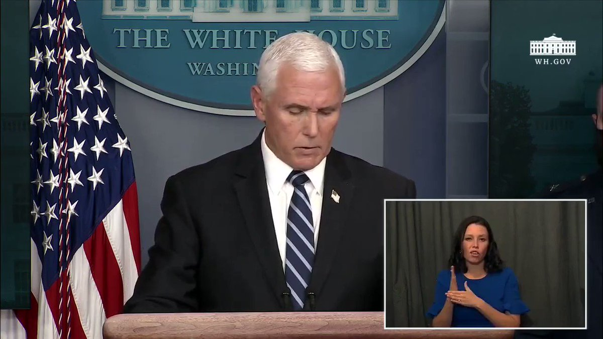 Vice President @Mike_Pence: We increased testing from a standing start and have completed 170 million tests
