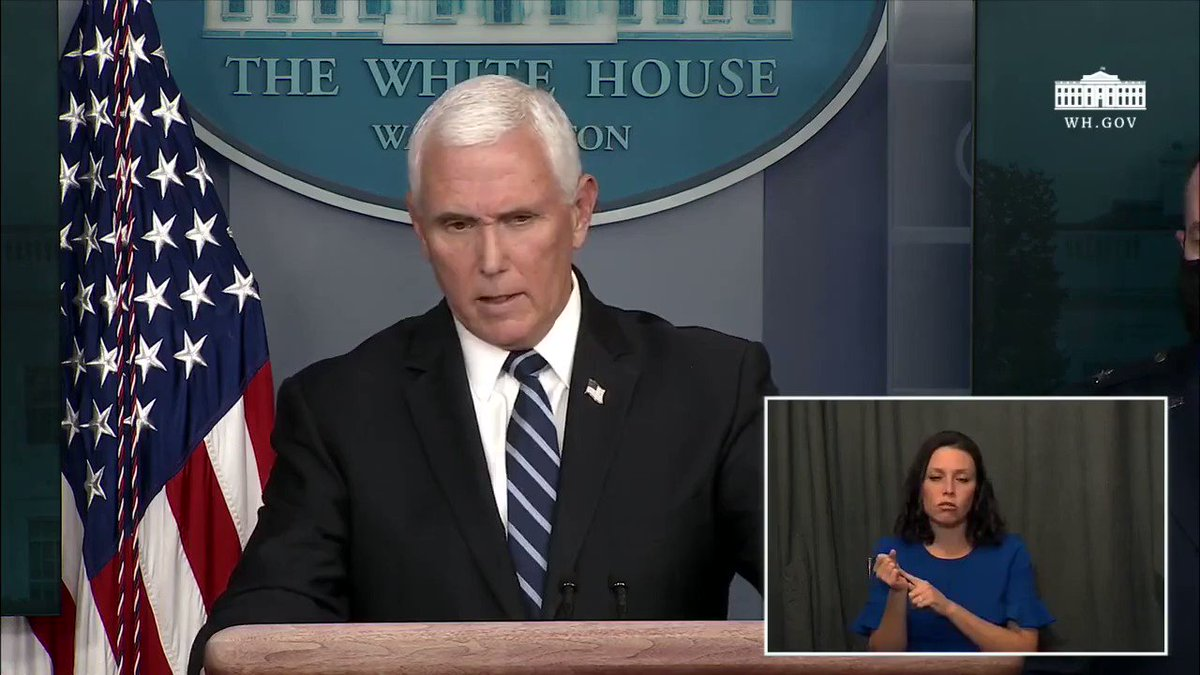 Vice President @Mike_Pence: This administration does not support another national lockdown or closing schools