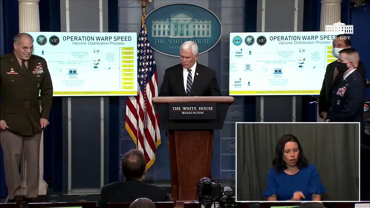 Vice President @Mike_Pence says 100 million Moderna vaccine kits are already assembled and ready to go