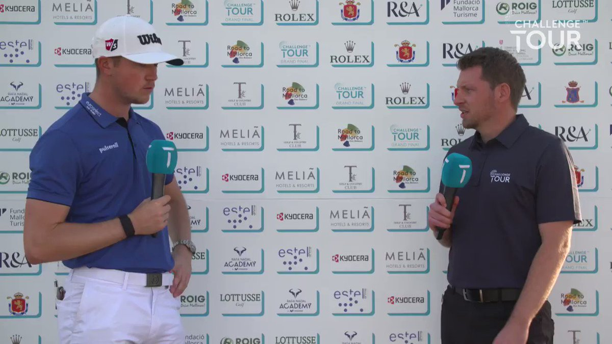 Richard Mansell has played some good golf, but he thinks today's front nine was the best he's EVER played 😏  #RoadtoMallorca #GrandFinal