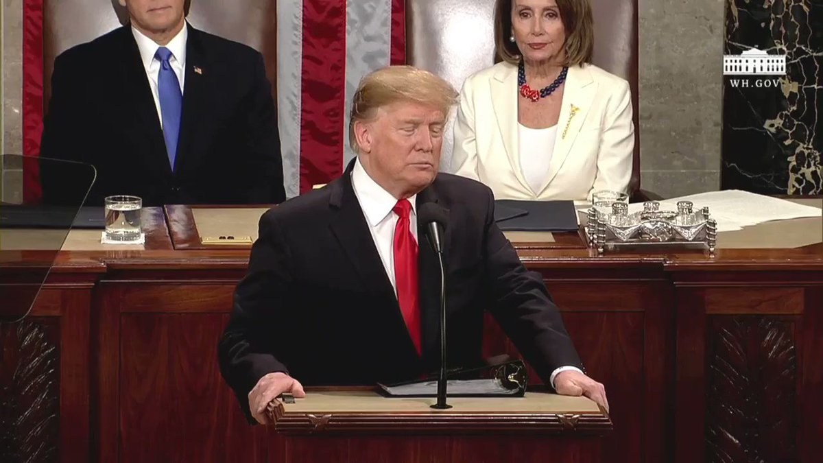 Under President Trump, we're taking on the big drug companies, taking on the middlemen, and taking on foreign countries freeriding off Americans.   We're delivering savings for the forgotten men and women of America who show up at the pharmacy counter.