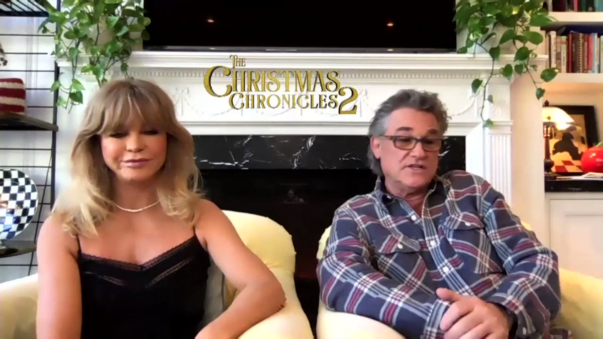 Kurt Russell says his age provides him with a unique opportunity: to play Santa Claus.  He stars alongside @goldiehawn in #TheChristmasChronicles2.
