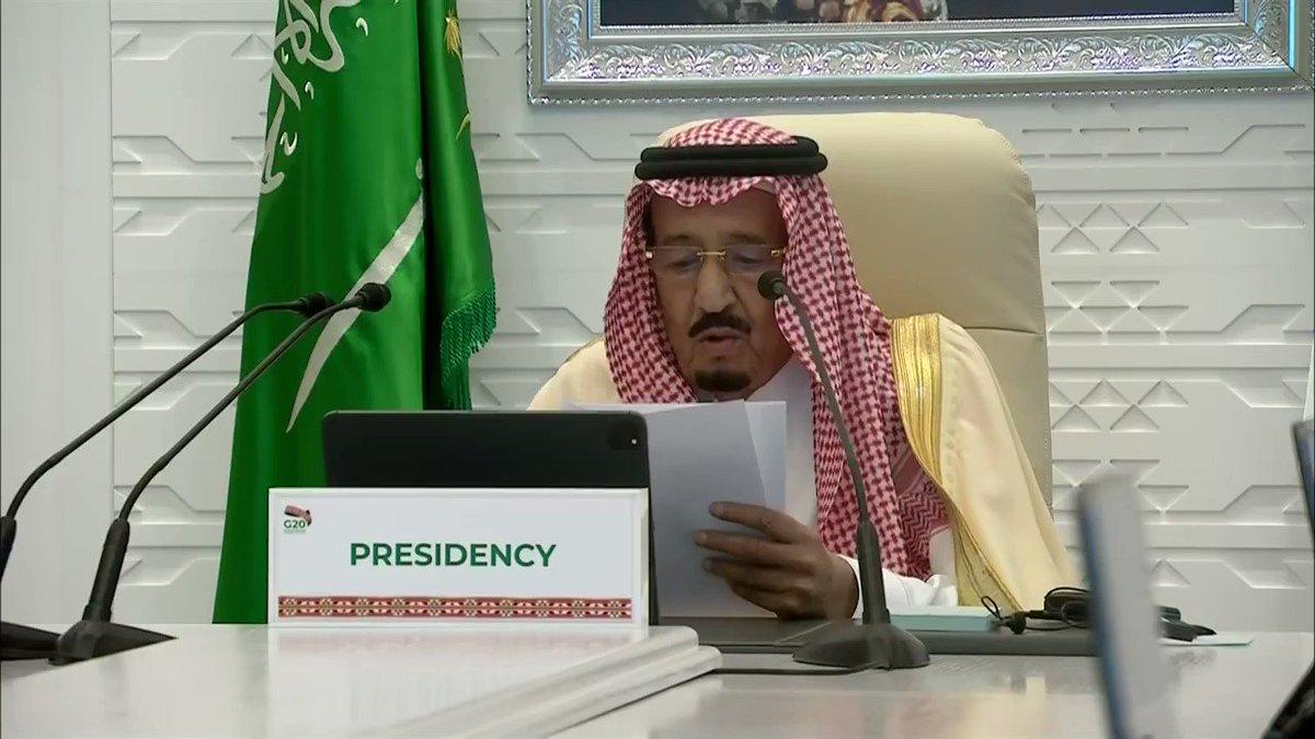 مولاي #خادم_الحرمين_الشريفين الملك سلمان بن عبدالعزيز -حفظه الله- يلقي الكلمة الختامية لقمة قادة #مجموعة_العشرين  #مجموعة_العشرين_في_السعودية #G20