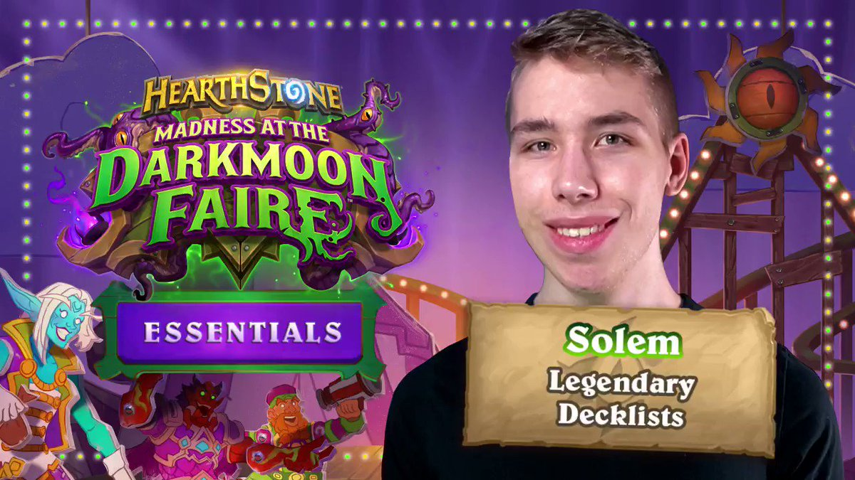 PlayHearthstone - The finest decks of the faire!  Check out @solemhs' overview of his Legendary favorites:
