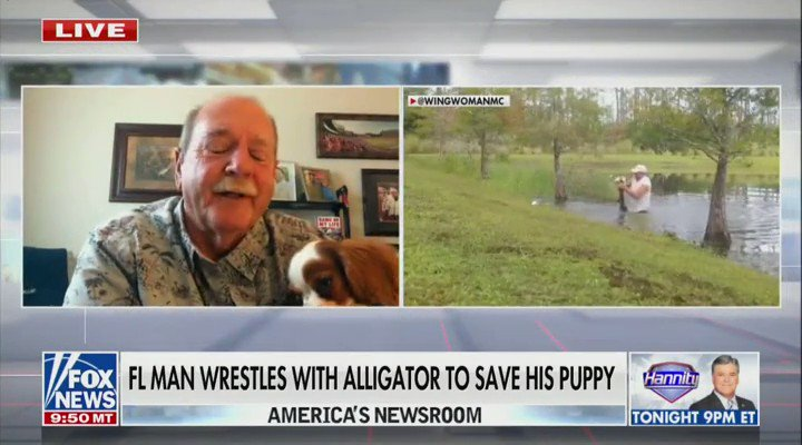 American hero Richard Wilbanks recounts the incredible rescue of his puppy, Gunner, from the jaws of an alligator. I didnt have a lot of time to think... the instinct of saving Gunner because hes such a wonderful little puppy. I just wasnt gonna let that alligator have him.
