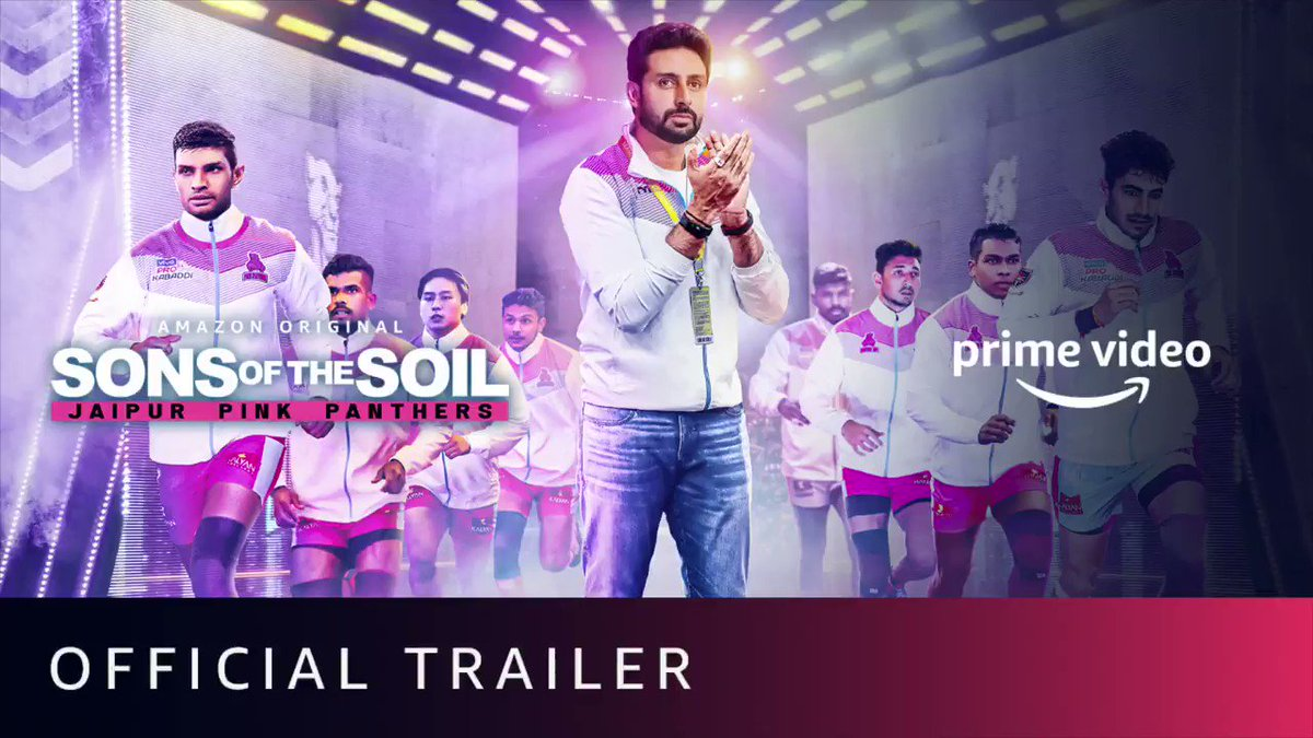 The trailer of #SonsOfTheSoil is out, and we just can't keep calm! Le Panga 💪   New Series, December 4!  @juniorbachchan @bunty_walia @JaipurPanthers @DeepakHooda5555 @Lsrinivasreddy9 @nitinrkabaddi