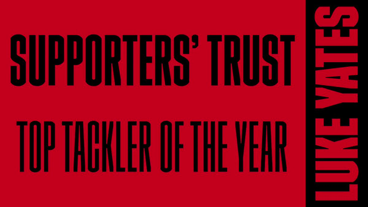 👊 Luke Yates was voted the 2020 @SalfordRLFC_ST top tackler of the year!  🙌 CONGRATULATIONS LUKE!  💪 #TogetherStronger  🏟️ Join him at the AJ Bell Stadium in 2021👉