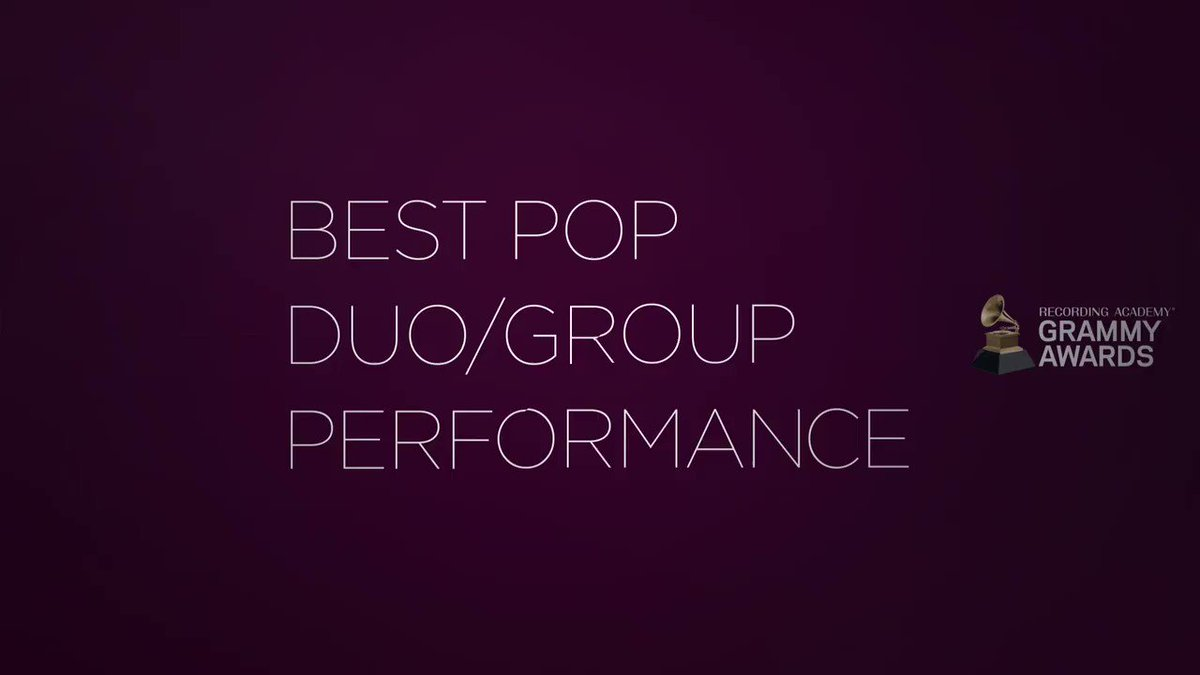 Congratulations 63rd #GRAMMYs Best Pop Duo/Group Performance nominees: @JBALVIN, @DUALIPA, Bad Bunny (@sanbenito), @Tainy, @justinbieber, @QuavoStuntin, @BTS_twt, @ladygaga, @ArianaGrande, @taylorswift13, @boniver: