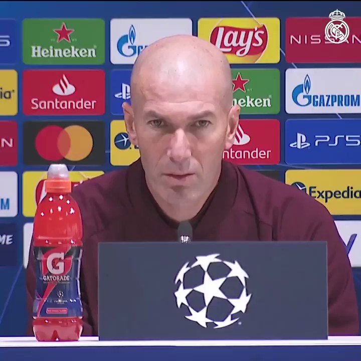 """🗣️👔 Zidane: """"We're ready and we all know the importance of this game."""" #HalaMadrid 