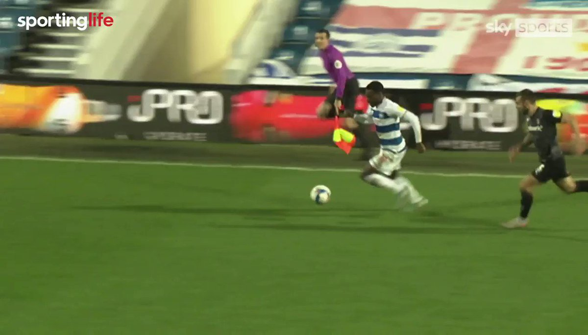 👏 QPR's Bright Osayi-Samuel showing just why he's one of the best dribblers in the Championship.  👌 And he can finish too...  @Bright_097 @QPR