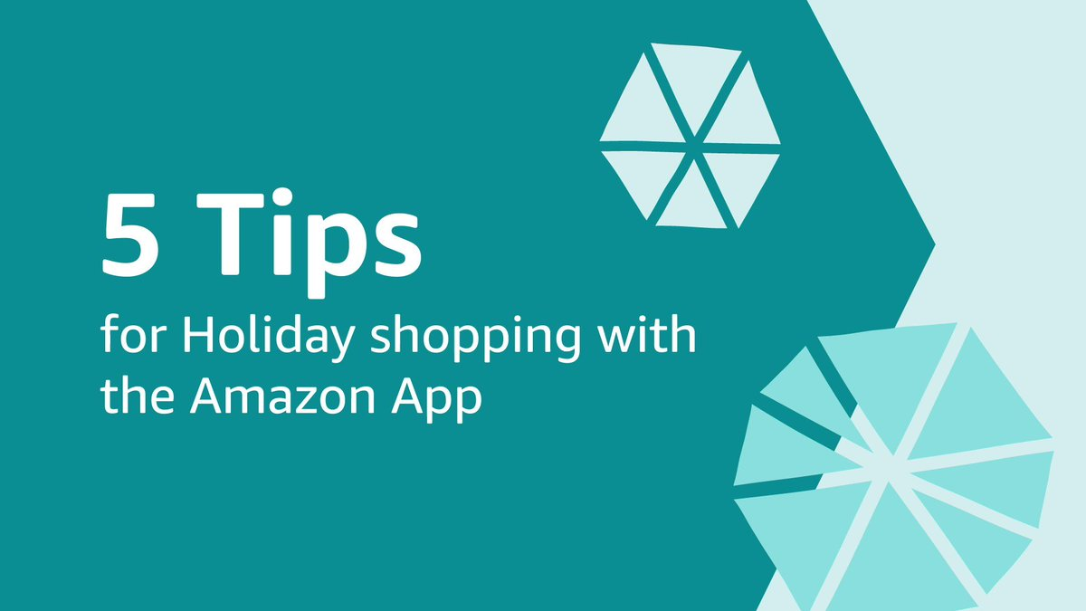 Still looking for that perfect gift? Follow these five tips for shopping with the Amazon App and finish your holiday shopping with ease: