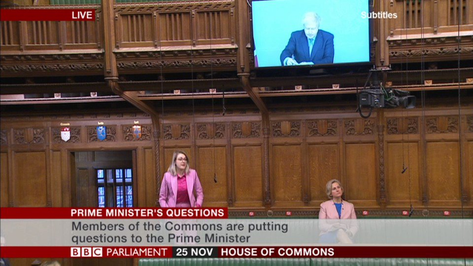 """Does the prime minister agree that now is not the time for an MP's pay rise?"" asks Tory MP Dehenna Davison  PM Boris Johnson says ""I do agree… we have frozen ministerial salaries this year""  #PMQs"