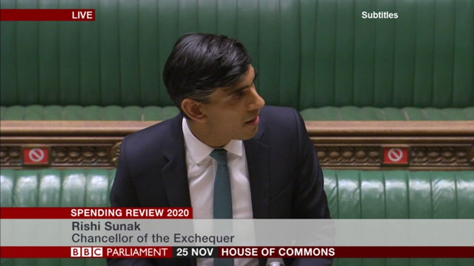"Chancellor Rishi Sunak announces a £3bn restart programme to help unemployed people ""find new work""  Adding ""we cannot protect every job, despite the extraordinary support we've provided"""