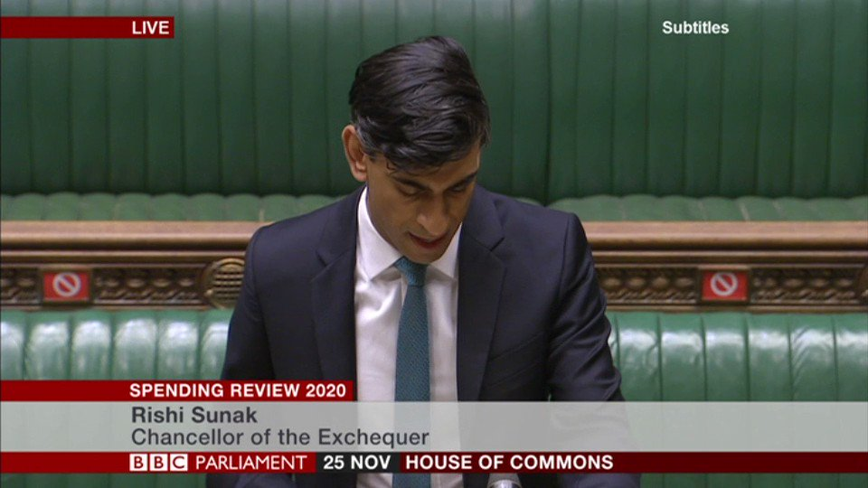Chancellor Rishi Sunak announces an increase in the National Living Wage by 2.2%, to £8.91 an hour - extended to those aged 23 and over