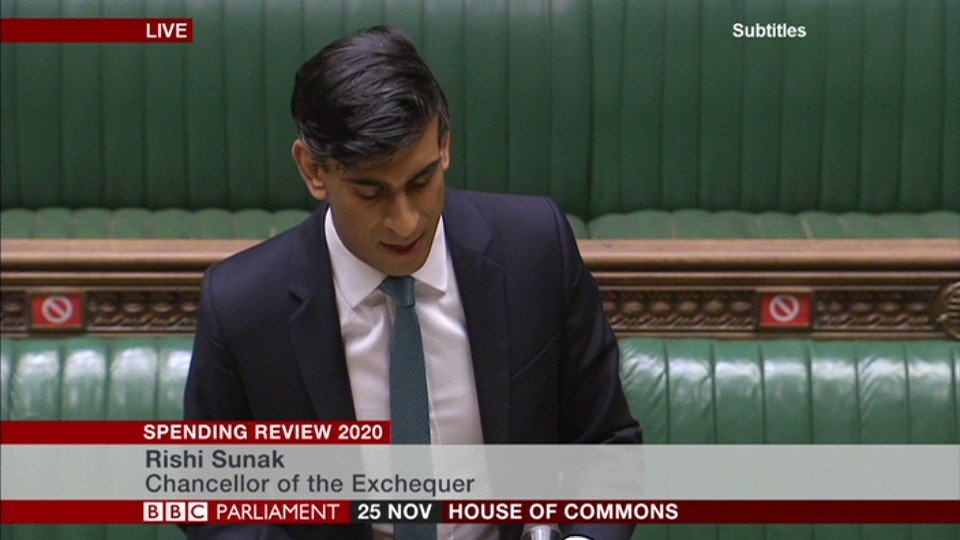 Chancellor Rishi Sunak announces new UK infrastructure bank headquartered in the north of England   This will finance infrastructure projects from next spring, alongside the private sector