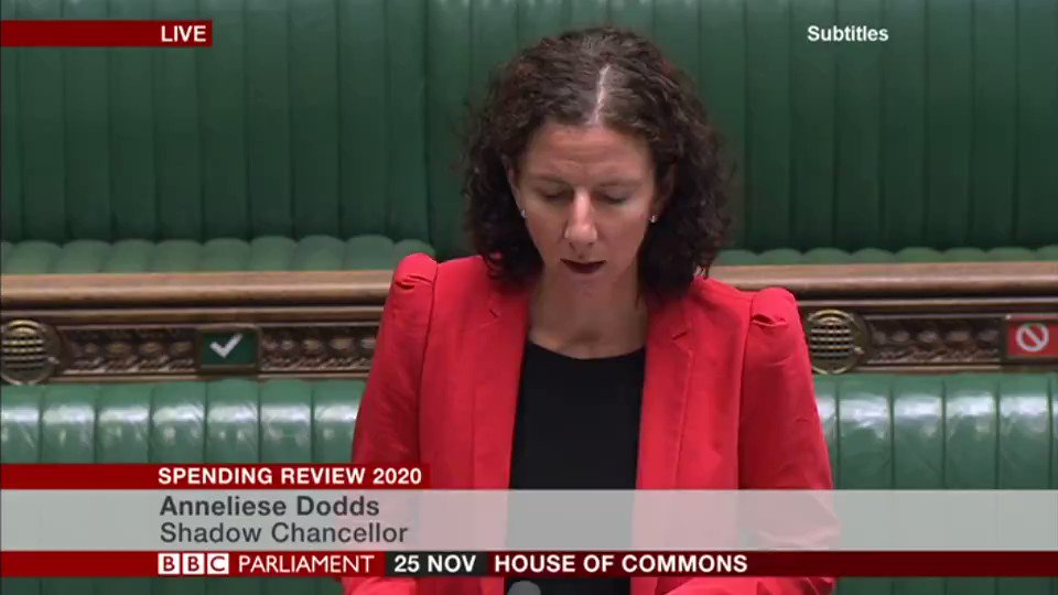 "Public sector pay freezes take ""a sledgehammer to consumer confidence,"" says shadow chancellor Anneliese Dodds  She says Conservatives have ""wasted and mismanaged public finances on an industrial scale"""