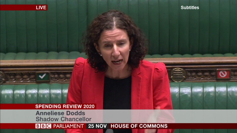 """The climate crisis is the biggest long-term threat to our economy,"" says shadow chancellor Anneliese Dodds  ""Far too often this Spending Review locks us into a path that will make the transition to net-zero harder, not easier"""