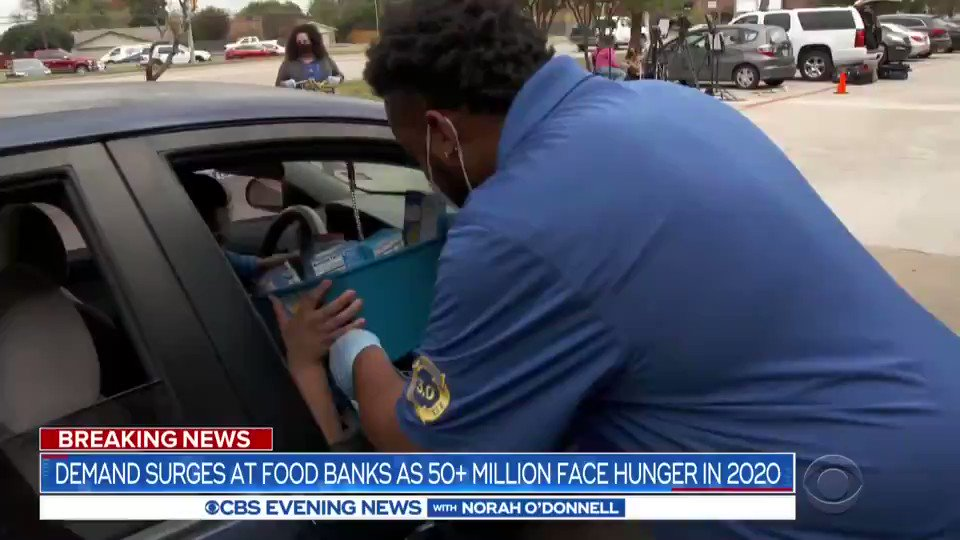 FEEDING FAMILIES: As the financial strain of the pandemic widens ahead of the holidays, food insecurity is on the rise.  On the same day that the Dow Jones Industrial Average closed above 30,000 for the first time, lines at food banks snaked for miles ahead of Thanksgiving.
