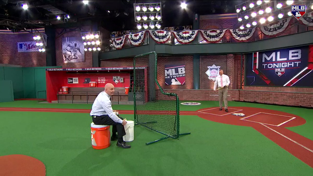 Train your body to hit the high strike with this exaggerated drill from @TheMayorsOffice and Bill Ripken, inspired by @MikeTrout! #MLBTonight