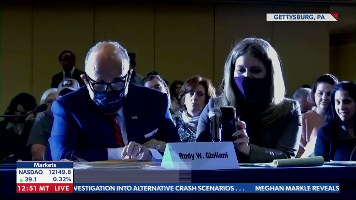 """""""They got caught.""""  - President Trump fires off on the perpetrators of 'fraud,' and applauds Rudy Giuliani for his efforts. https://t.co/VlT7z8drtO https://t.co/aY0wnHVPHp"""