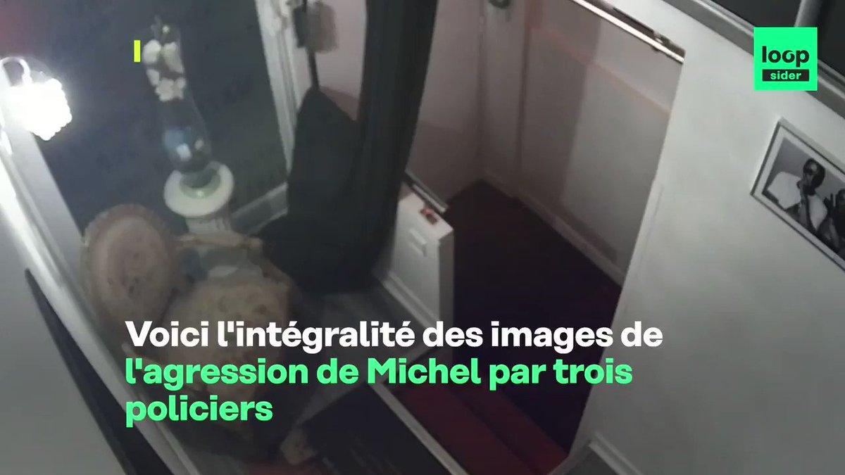 DOCUMENT: la séquence intégrale des 13 minutes de l'agression policière contre un producteur de musique parisien. Attention: images difficiles de violences et d'insultes racistes.