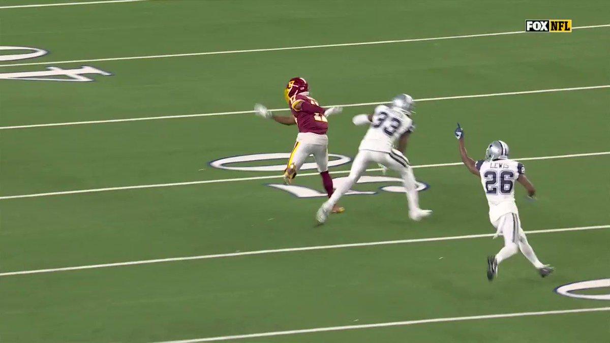 .@TheTerry_25 ran him down 👀  📺: #WASvsDAL on FOX 📱: NFL app // Yahoo Sports app: