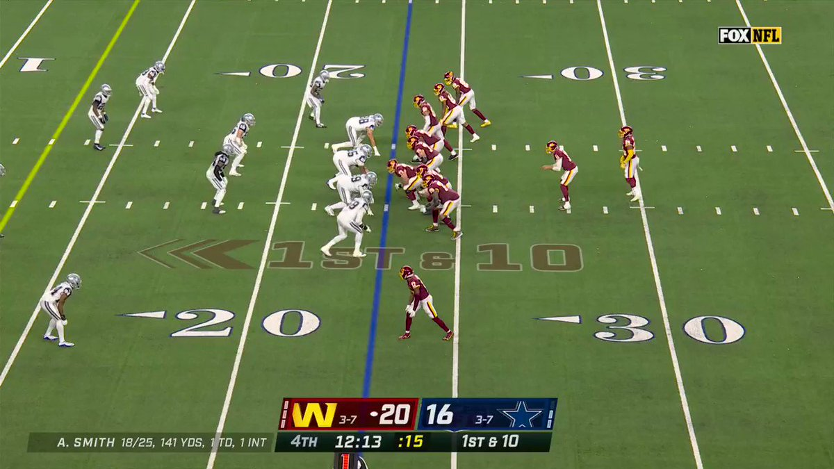 A Thanksgiving Day FEAST for @AntonioGibson14! @WashingtonNFL  His 2nd TD of the day!  📺: #WASvsDAL on FOX 📱: NFL app // Yahoo Sports app: