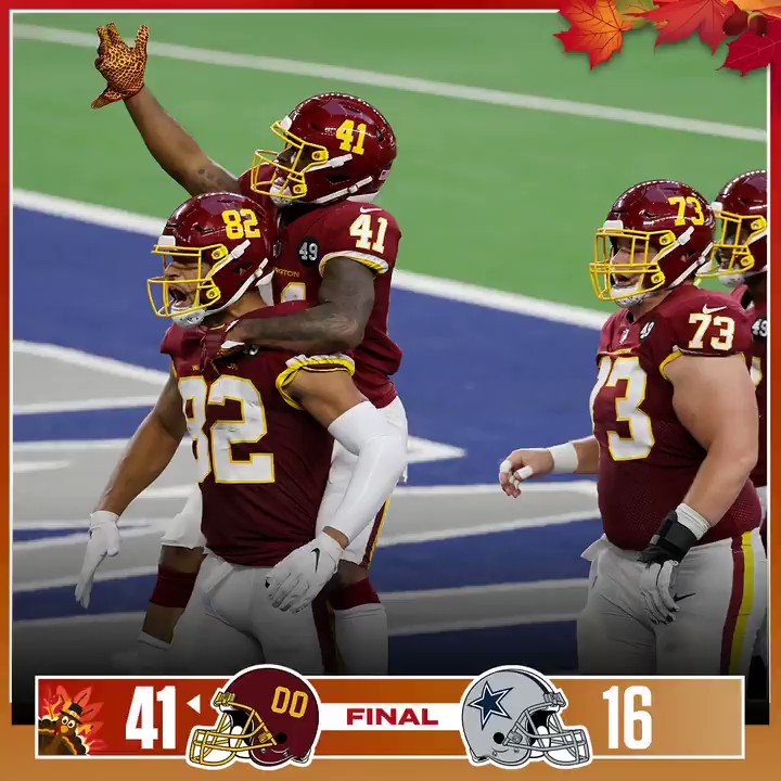 FINAL: A Thanksgiving WIN for @WashingtonNFL! #WASvsDAL    (by @lexus)