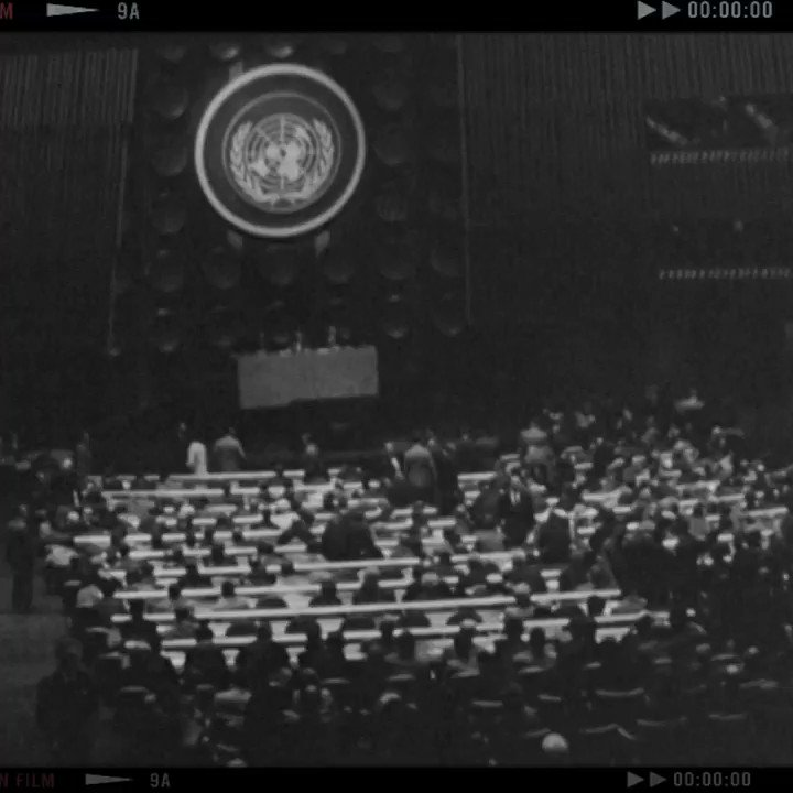 #RT @UN: One country - one vote.   Our colleagues from the UN Audiovisual Library explain how the General Assembly works.   They have dug through 75 years of audiovisual heritage to bring you some #UNGA trivia. More:  #UN75