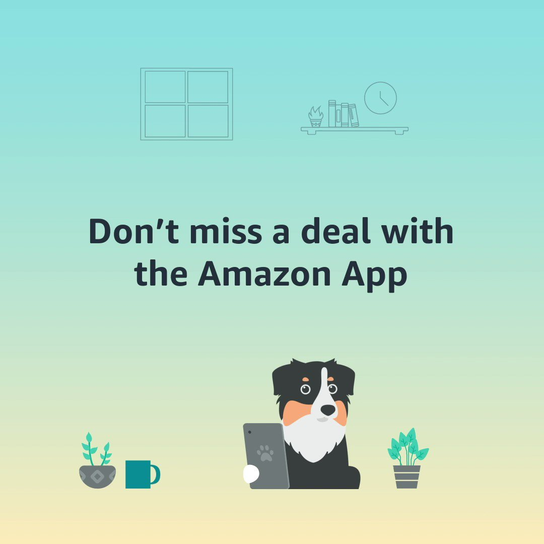Don't miss out on your favourite deals this holiday season. Turn on deal notifications in the Amazon App and receive alerts when deals go live: