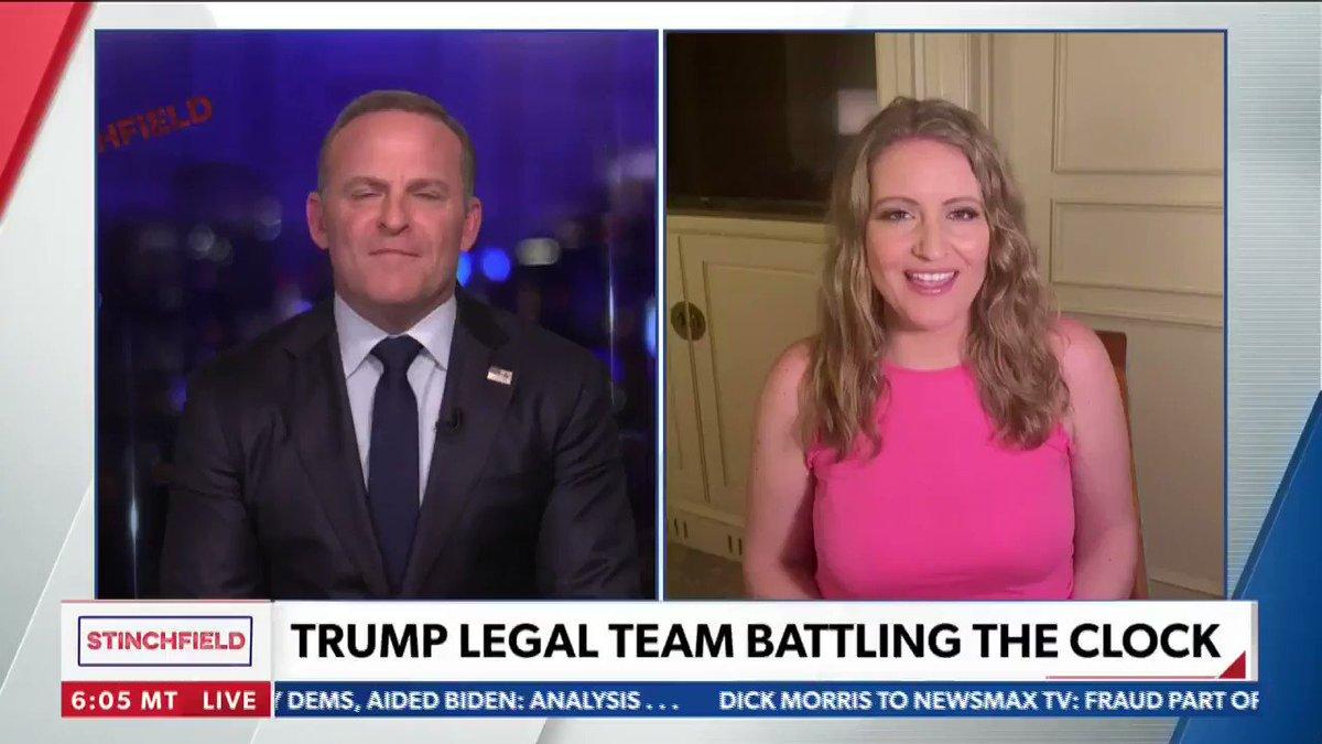 "Jenna Ellis shares to Newsmax TV a huge development for the Trump team - regarding the PA state legislature's rights against ""corrupt election officials.""  @JennaEllisEsq @stinchfield1776"