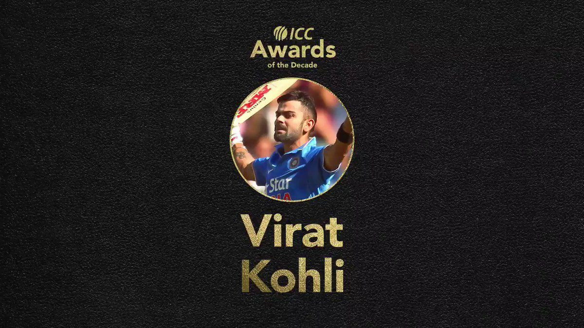 🏅 During the awards period: 🔸 Leading run-scorer in men's T20Is – 2768 at 50.32 🔸 Leading run-scorer in @T20WorldCup matches – 777 at 86.33  India superstar Virat Kohli is a nominee for the ICC Men's T20I Player of the Decade award!  VOTE 👉