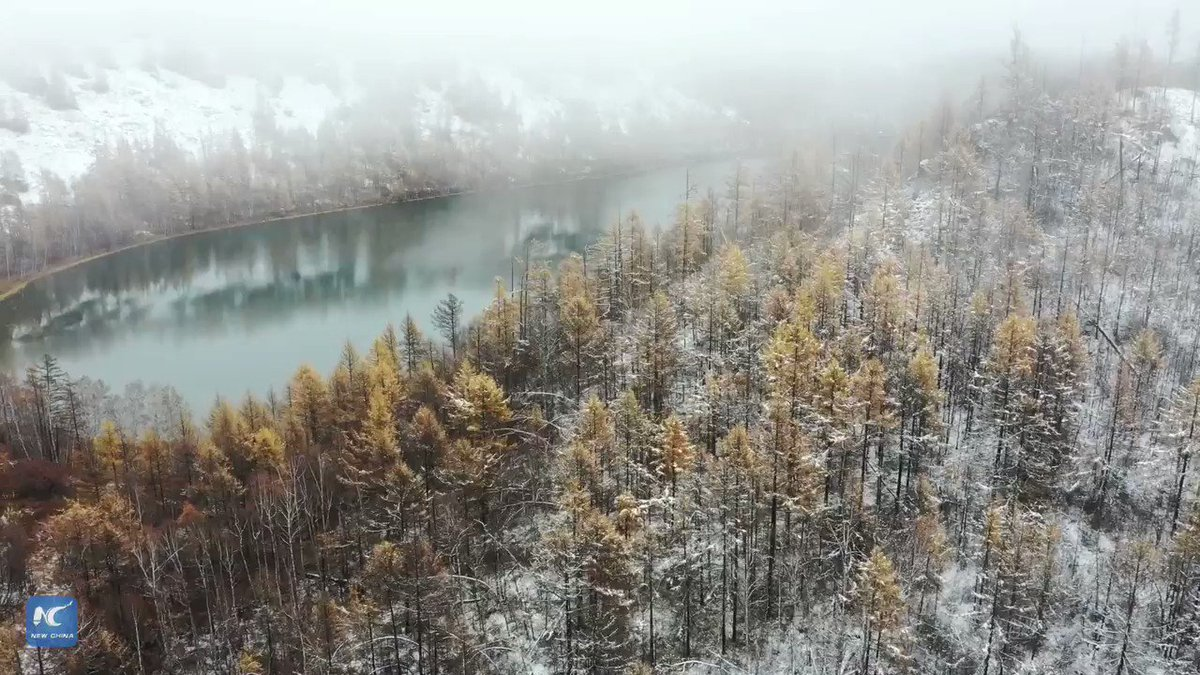 Natural Winter Wonders: Catch a sight of this river in north China's Inner Mongolia that never freezes. It's an emerald green river that flows continuously, even in freezing temperatures