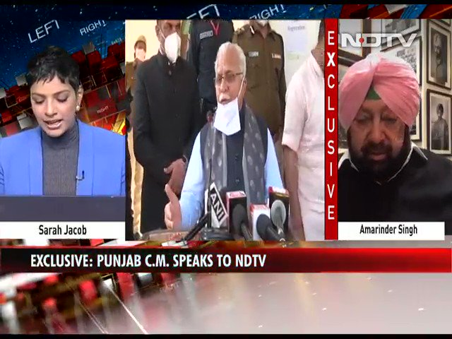 "Watch | ""Congress never said that they will do away with the mandi system"": Punjab CM Amarinder Singh to NDTV   #FarmLaws #NDTVExclusive"