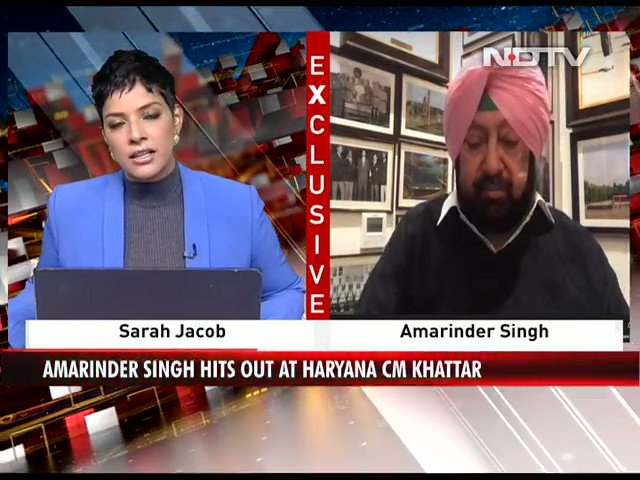 "Watch | ""Any party of Punjab is in it because they know what would affect the farmers and they are worried"": Punjab CM Amarinder Singh to NDTV   #FarmersProtest #NDTVExclusive"