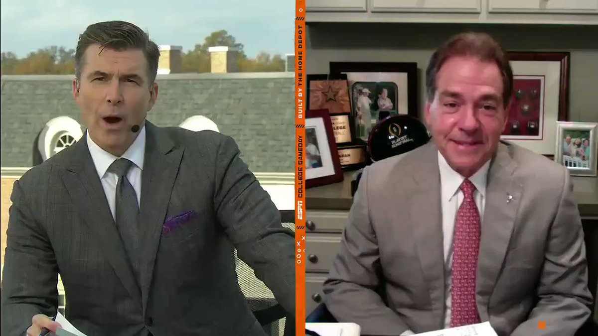 Nick Saban joins the show to discuss Alabamas mindset for the Iron Bowl without him on the sideline. He may not be coaching, but hes still rocking a suit 💪