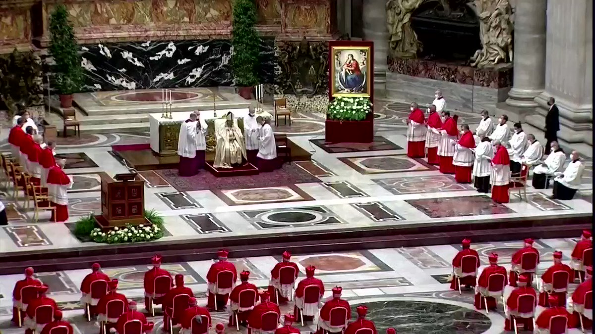 Pope Francis installed 13 new cardinals at the Vatican, including Washington D.C. Archbishop Wilton Gregory, who became the first African American to hold the rank https://t.co/rq7taQ6Gg9 https://t.co/cLWiMTAeKC