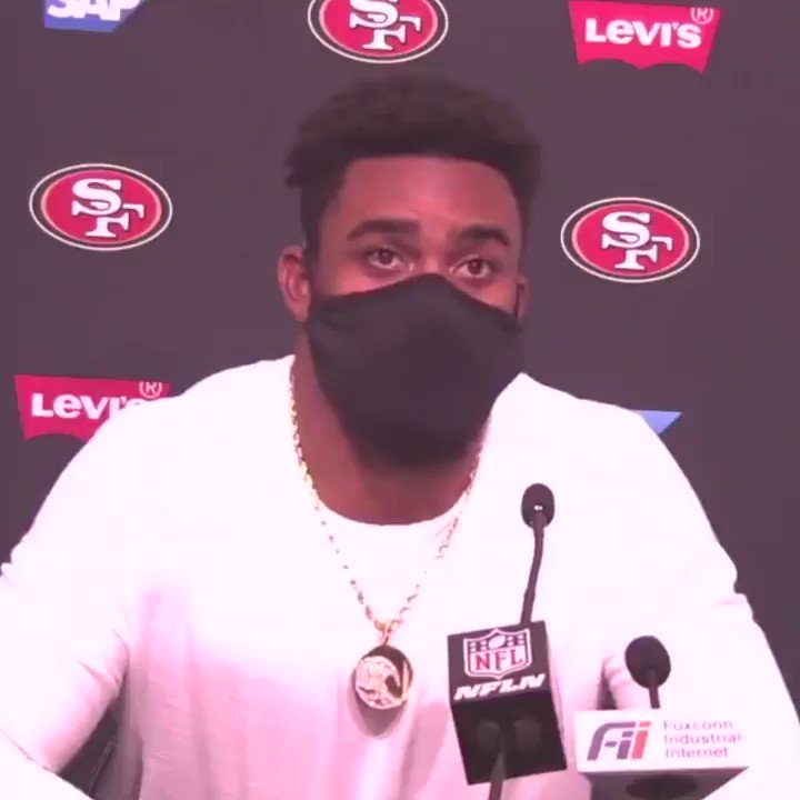 """""""It's been a struggle not having my little family. ... I miss them so much.""""  Raheem Mostert opened up after the 49ers' win 🙏 @RMos_8Ball https://t.co/p56u9o6s9r"""