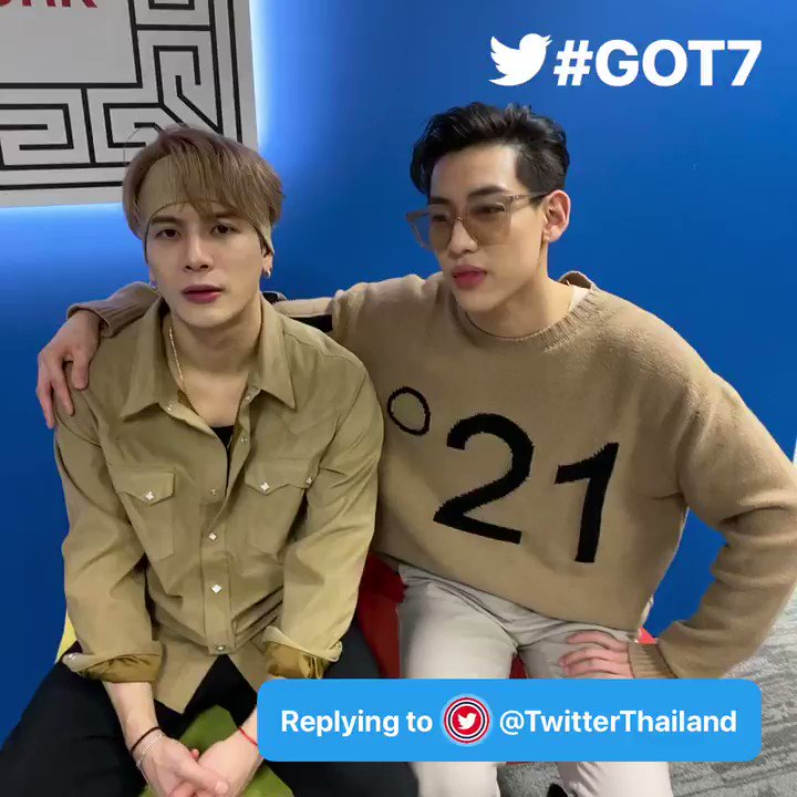@GOT7Official Q: #AskGOT7 Sawasdee krub from Thailand 🇹🇭 What will be the first thing you do when you come back to Thailand? - @TwitterThailand  A: