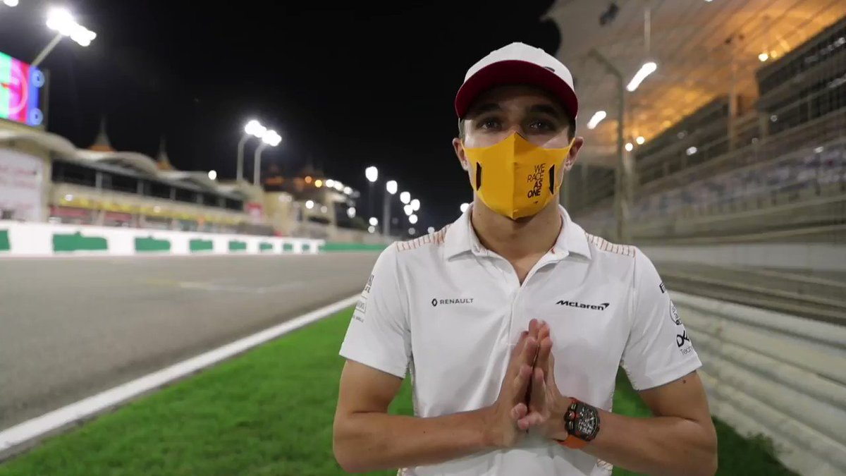 """""""Thanks for all your support. It means a lot, especially now in this final push."""" 🧡  💬 @LandoNorris with a message for our fans following yesterday's #BahrainGP."""